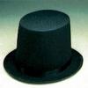 Black Lincoln Stove Pipe Hat Medium